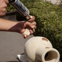 To repair a vase